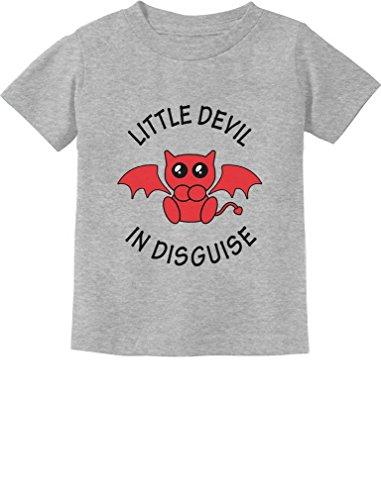Little Devil in Disguise Easy Halloween Costume Toddler/Infant Kids T-Shirt 3T Gray -