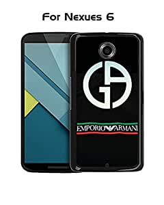 Brand Logo Armani Nexus 6 Funda Case - Creative Plastic Cute Hard Shell Ultra Slim Rugged Funda Case cover for Google Nexus 6