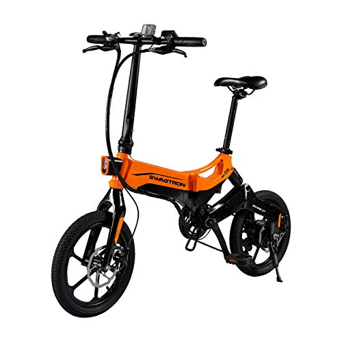 Swagtron EB7 Plus Electric Bike w/Quick-Shift Shimano 7-Speed & Removable
