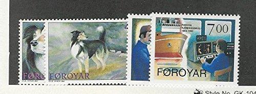 (Faroe Islands, Postage Stamp, 266-269 MInt NH, 1994 Dog, Ship)