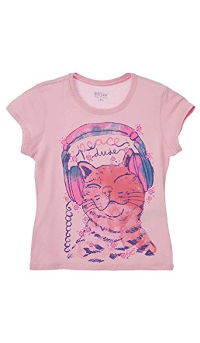 OFFCORSS Printed Cool Loose Top T-Shirt Big Girls Image Teenagers Teens Tweens Pink Camisetas Ropa de Niña Rosado Size Talla (Tween Leggings)