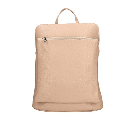 in Cm Italy 29x37x11 en Rose femme dos Made Aren cuir véritable à Sac xqaPP8