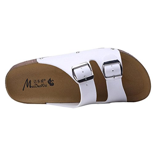 The New Fish Mouth Rome Men's Sandals(White) - 1