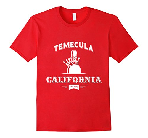 Other California Red Wine - Mens Temecula California Wine Country T-shirt Medium Red