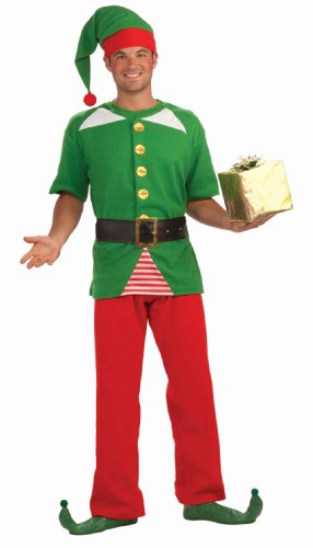 Adult Holiday Elf Costumes (Forum Novelties Men's Jolly Elf Kit, Multi, One Size)