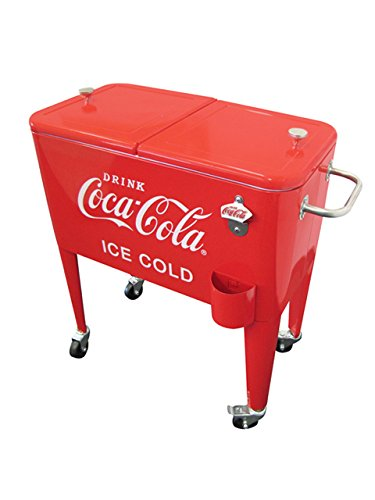 Leigh Country 60 Qt. Coca-Cola Ice Cold Heavy Duty Rolling C