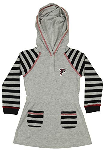 Outerstuff NFL Infant and Toddler Girls (12M-4T) Long Sleeve Hooded Dress and Legging Set, Atlanta Falcons 3T