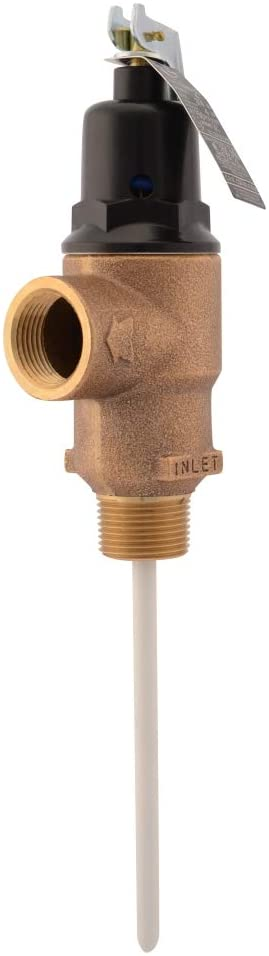Cash Acme 16934-0150 Temp Pressure Relief Valve, Brass