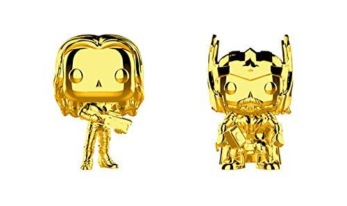 Funko Pop! Marvel Studios 10 Set of 2: Gold Chrome Thor and Gamora