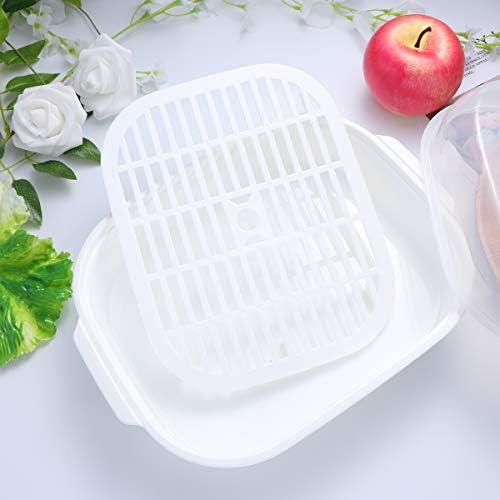 41rE5DQ703L. AC UPKOCH Microwave Food Steamer Cooking Steamer Basket for Fish Vegetable Buns(Random color)    Description