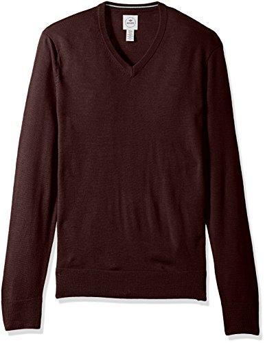 Dockers Men's Long Sleeve Merino Vneck Sweaters