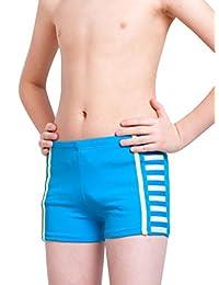 Aivtalk Boys Swim Trunks Summer Solid Color Quick Dry Sports Swimming Boxer