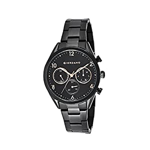 Giordano Multifunctional Black Dial Men's Watch