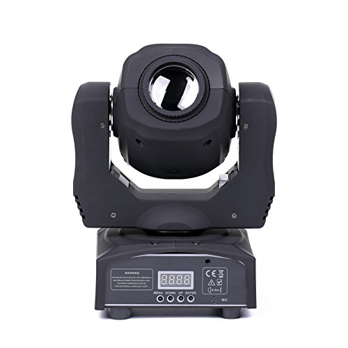 U`King LED Moving Head Light Spot 4 Color Gobos Light 100W DMX with Show KTV Disco DJ Party for Stage Lighting (1) by U`King