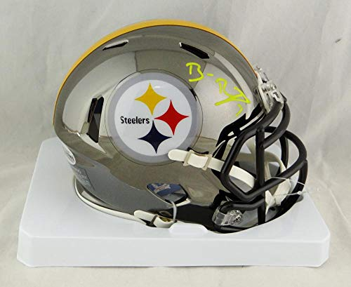 Ben Roethlisberger Autographed Pittsburgh Steelers Chrome Mini Helmet- Beckett Auth Yellow