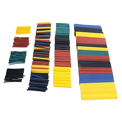 sahnah 328pcs Heat Shrink Tubing Tube Wire Insulation Sleeving Kit Car Electrical Shrinkable Cable Wrap Set Assorted Polyolefin