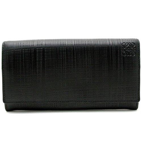 (ロエベ) LOEWE【LINEN】 二つ折り長財布NEGRO/BLACK (ブラック)10188K98 1100 [並行輸入品] B01JOJ56JC
