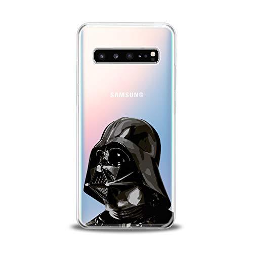 Lex Altern TPU Case for Samsung Galaxy s10 5G Plus 10e Note 9 s9 s8 s7 Black Darth Vader Print Design Spaceship Gift Clear Slim fit Star Wars Flexible Soft Galaxy Lightweight Smooth Universe Cover Boy]()