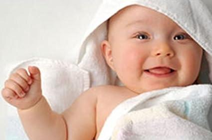 Toalla de baño blanca lisa con capucha para bebé, de algodón, color blanco,