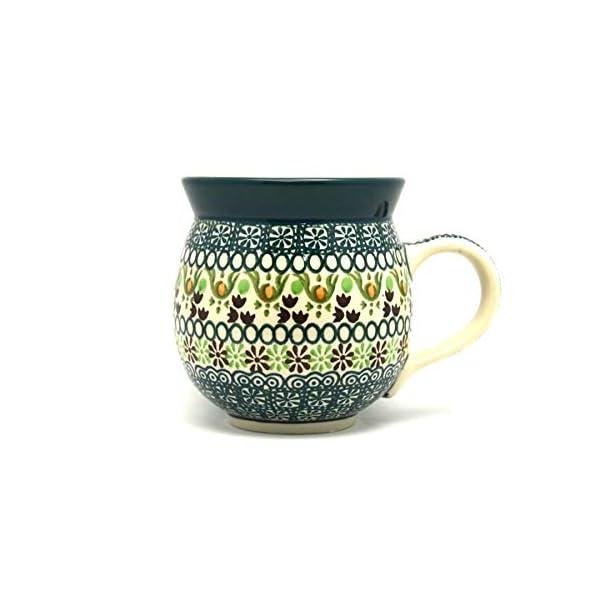 Polish Pottery Mug – 11 oz. Bubble – Mint Chip
