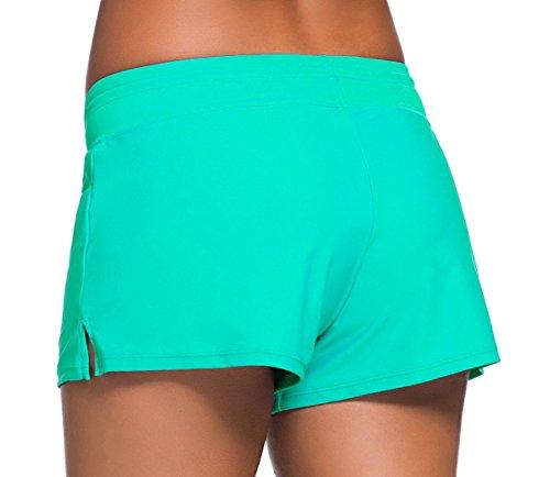 6e67a92e6d Sythyee Women's Swim Boardshorts Tankini Boyshorts Beach Bottom Swimsuit  Built in Briefs