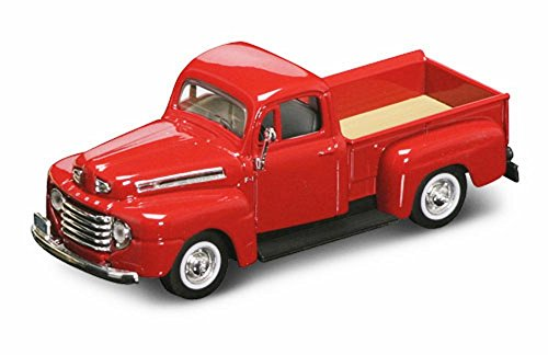 Yatming 1948 Ford F-1 Pickup Truck, Red 94212 - 1/43 Scale Diecast Model Toy Car ()