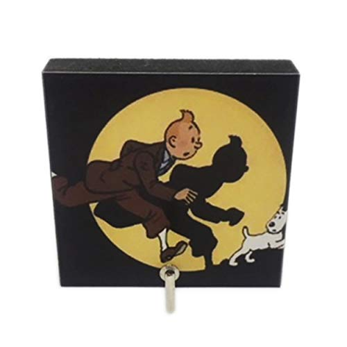 Agility Bathroom Wall Hanger Hat Bag Key Adhesive Wood Hook Vintage Tin Tin and Snowy Adventure's - Calendar Tintin