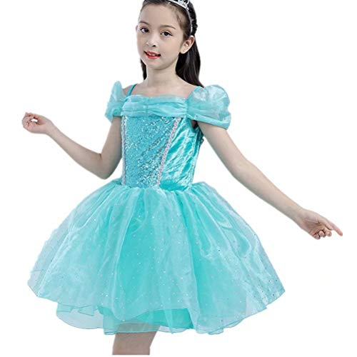 Tsyllyp Girls Princess Jasmine Dress Up Costumes Halloween Party Fancy Dress -