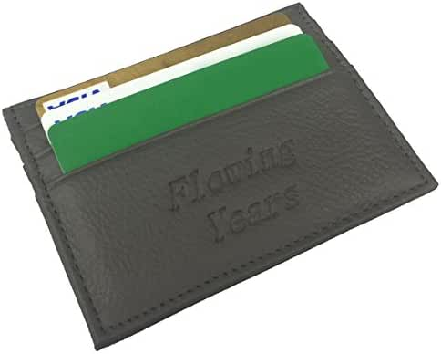 Flowing Years Slim Leather Wallet Credit Card Case Sleeve Card Holder