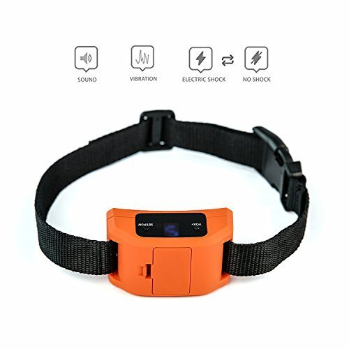 Hecmoks Anti Bark Collar for Small, Medium, Large Dogs - Dog Bark Shock Collar Device to Stop,Control Barking w/Humane 2018 Newest Automatic ULTRASONIC TECH for 5-120 lbs Breeds (Orange)