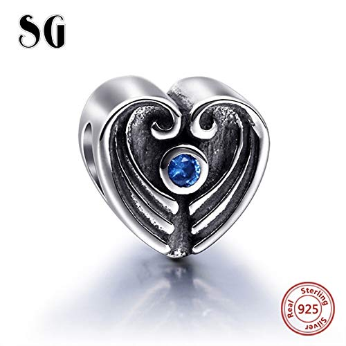 Pukido SG New Arrival 925 Sterling Silver Charms Beads Love Forever Best Friendship Beads Fit European Bracelets Charms DIY Jewelry Color: P6107