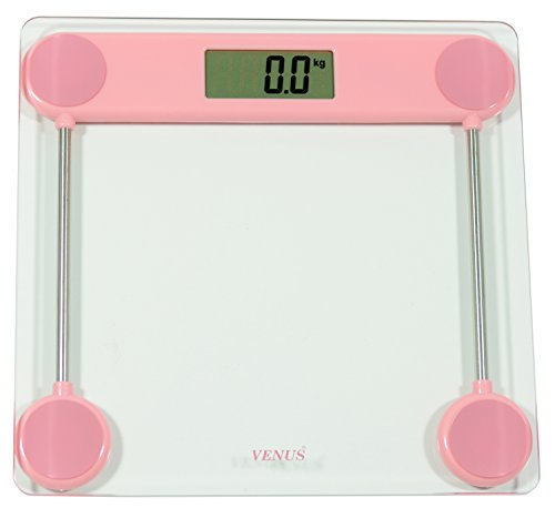 Venus Personal Electronic Digital LCD Weight Machine and Body Fitness Weighing Bathroom Scale(Pink)