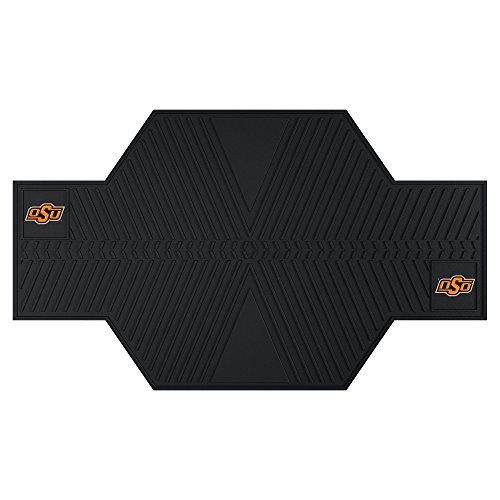 FANMATS 15244 Oklahoma State University Motorcycle Mat,Black by Fanmats