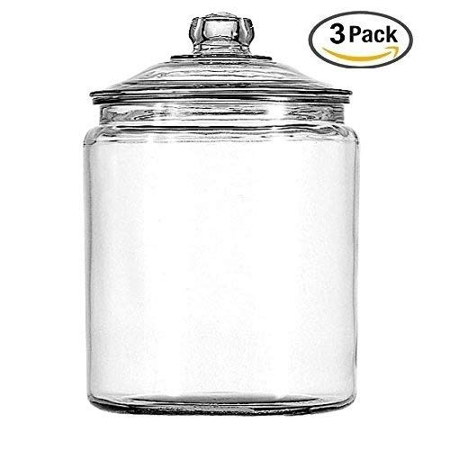 Anchor Hocking 2-Gallon Heritage Hill Canister Jar SET of 3