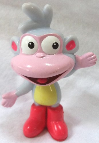 Nickelodeon Nick Jr Dora the Explorer Boots Monkey Petite Doll Cake Topper Figure, Style May ()
