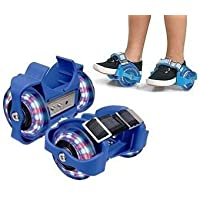 Instakart Adjustable Simply Roller Skating Shoes Flashing Light Wheels Heel Roller Skate Shoes – (1 Pair