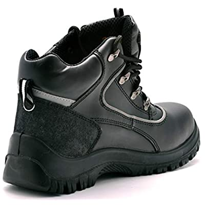 Black Hammer Mens Safety Boots Steel Toe Cap S3 SRC Work Shoes Ankle Leather 7752: Shoes
