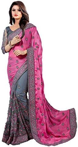 eeb5cf022e GlamFlox Designer Saree For Women Party Wear Half Sarees Padmavati Silk  Pallu And Utsav Scut With Fancy Embroidery Work Half Sarees With Fancy  Blouse And ...