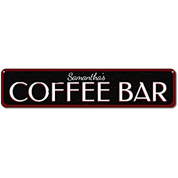 But first coffee wood sign black home kitchen for Bar decor amazon