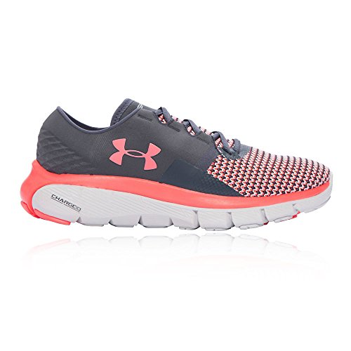 Under Armour Womens Ua Speedform Fortis 2 Scarpe Da Corsa Stealth Grigio / Rosa Chroma / Glacier Grey