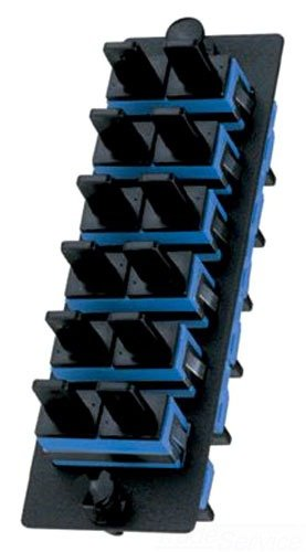 Panduit FAP6WBUDSCZ Single-Mode 6-Port Fiber Adapter Panel with Zirconia Ceramic Split Sleeve, Blue by Panduit
