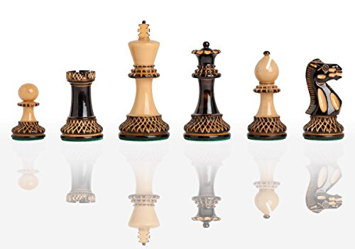 The House of Staunton The Burnt Grandmaster Chess Set - Pieces Only - 4.0