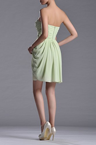 Rose Knee line Neckline Cocktail Sweetheart Dusty A Chiffon Dress Length Strapless wIxvqHnFB