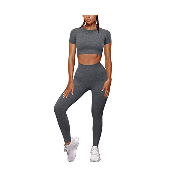 OYS-Womens-Yoga-2-Pieces-Workout-Outfits-Seamless-High-Waist-Leggings-Sports-Crop-Top-Running-Sets