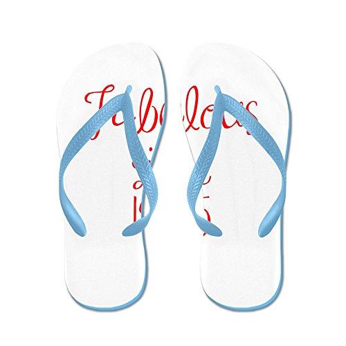 Cafepress Fantastiska Sedan 1965-mas Röd Flip Flops - Flip Flops, Roliga Rem Sandaler, Strand Sandaler Caribbean Blue