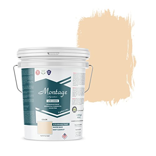 - Montage Signature Interior/Exterior Eco-Friendly Paint, Desert Mesa - Low Sheen, 5 Gallon