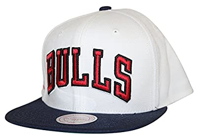 Mitchell & Ness Men's NBA Navy & White High Crown Logo Snapback Cap