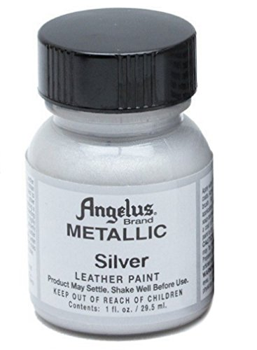 Angelus Leather Paint 1 Oz Silver - Packing May Vary Silver Fusion Jackets