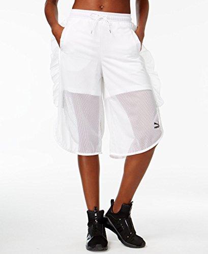 Mesh Frill Shorts Puma White Shorts (Frill Shorts)