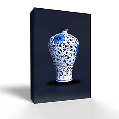 Majestic Artistry, With a Professional Touch, Blue and White Porcelain China Vase Painting Wall Bedroom Living House